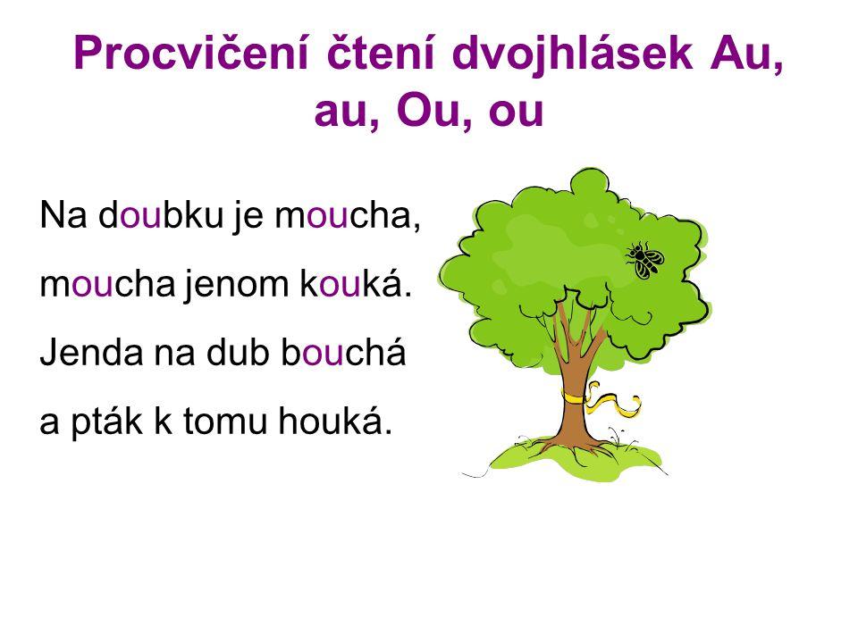 Procvičení čtení dvojhlásek Au, au, Ou, ou