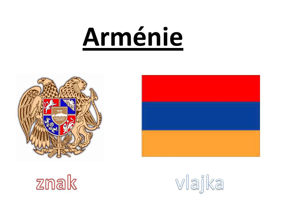 Arménie znak vlajka
