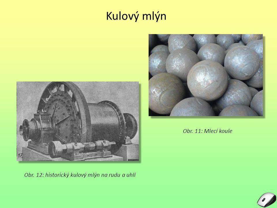 Kulový mlýn Obr. 11: Mlecí koule
