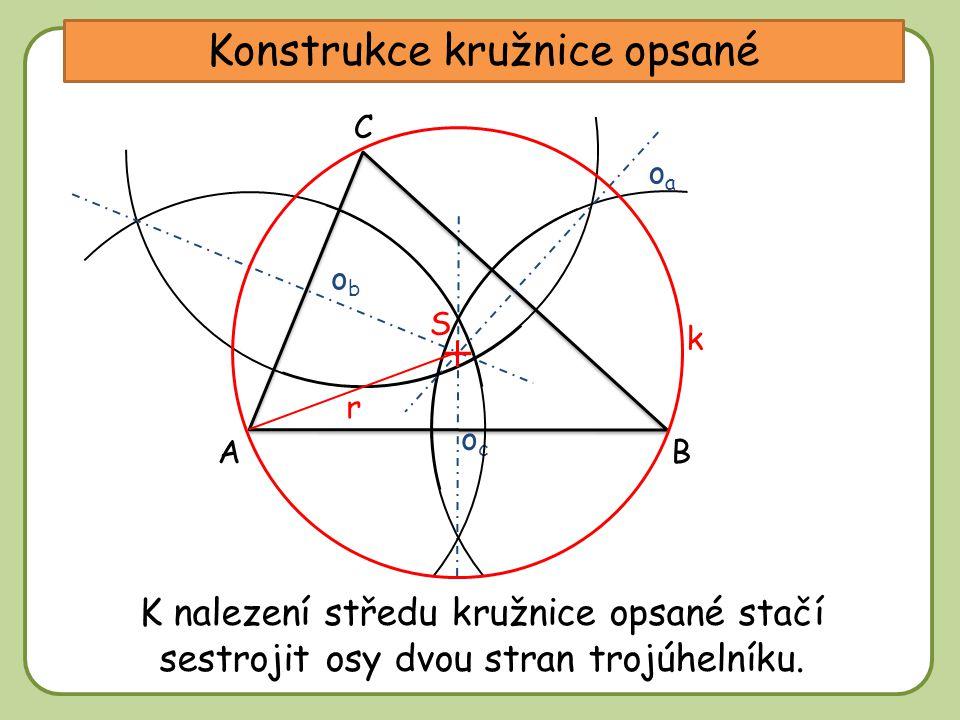 Konstrukce kružnice opsané