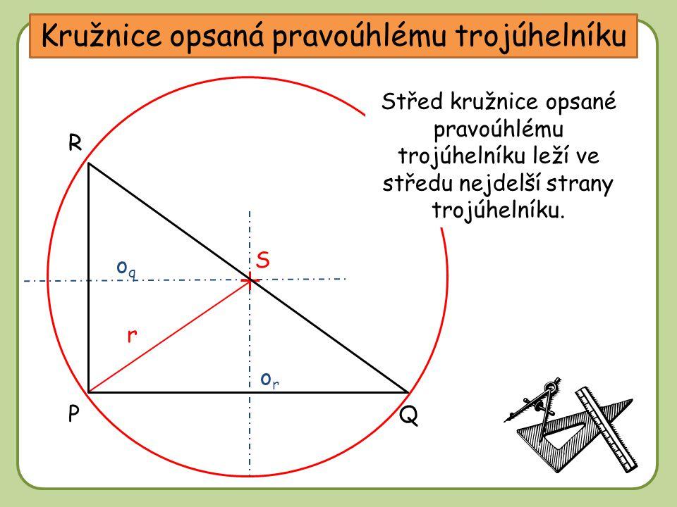Kružnice opsaná pravoúhlému trojúhelníku