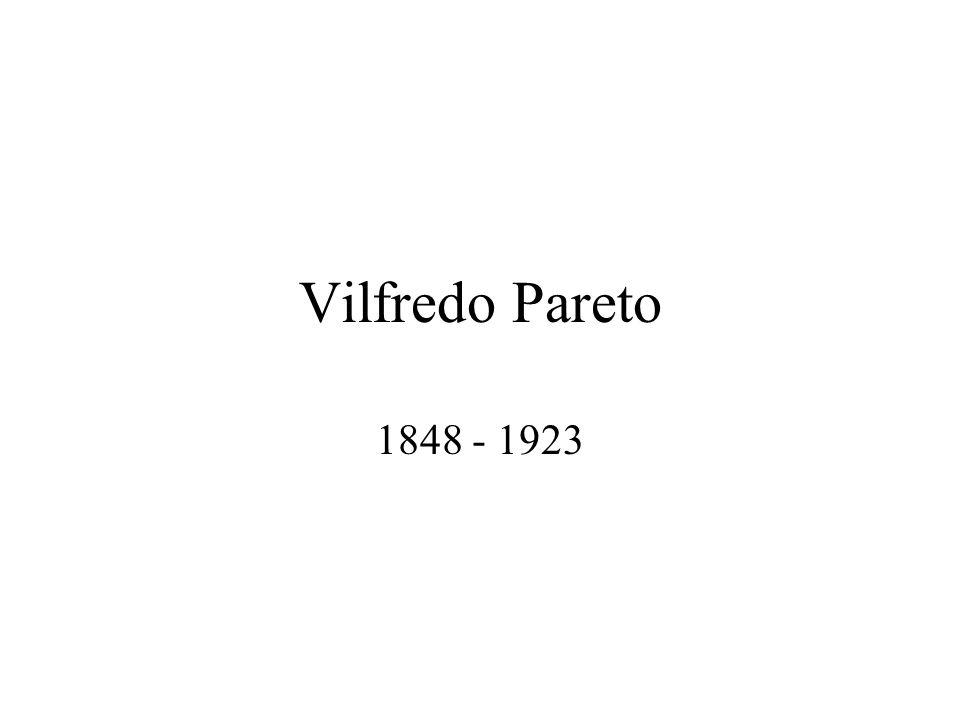 Vilfredo Pareto 1848 - 1923