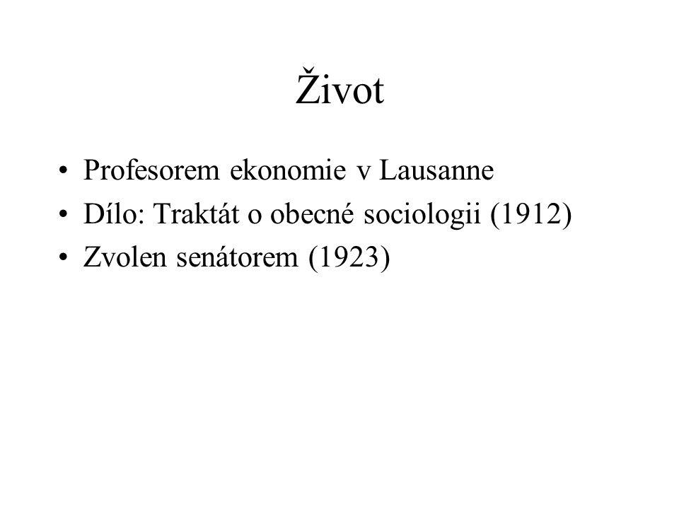 Život Profesorem ekonomie v Lausanne