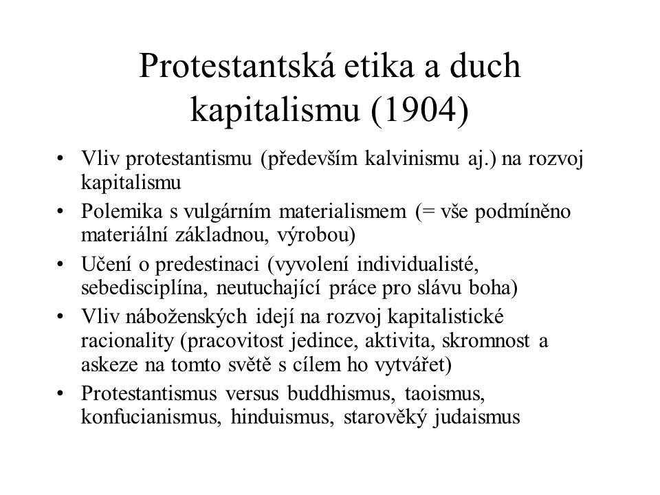 Protestantská etika a duch kapitalismu (1904)