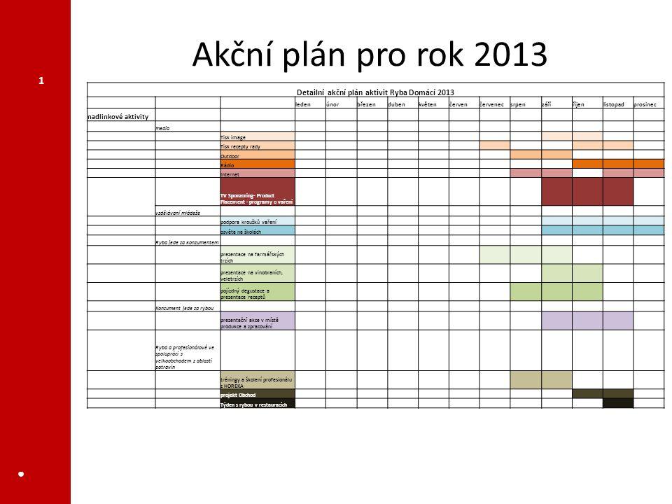Detailní akční plán aktivit Ryba Domácí 2013