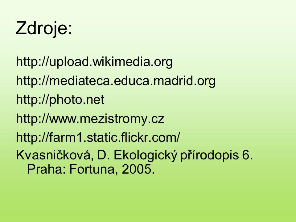 Zdroje: http://upload.wikimedia.org http://mediateca.educa.madrid.org