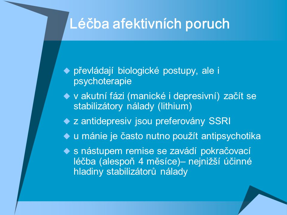 Léčba afektivních poruch