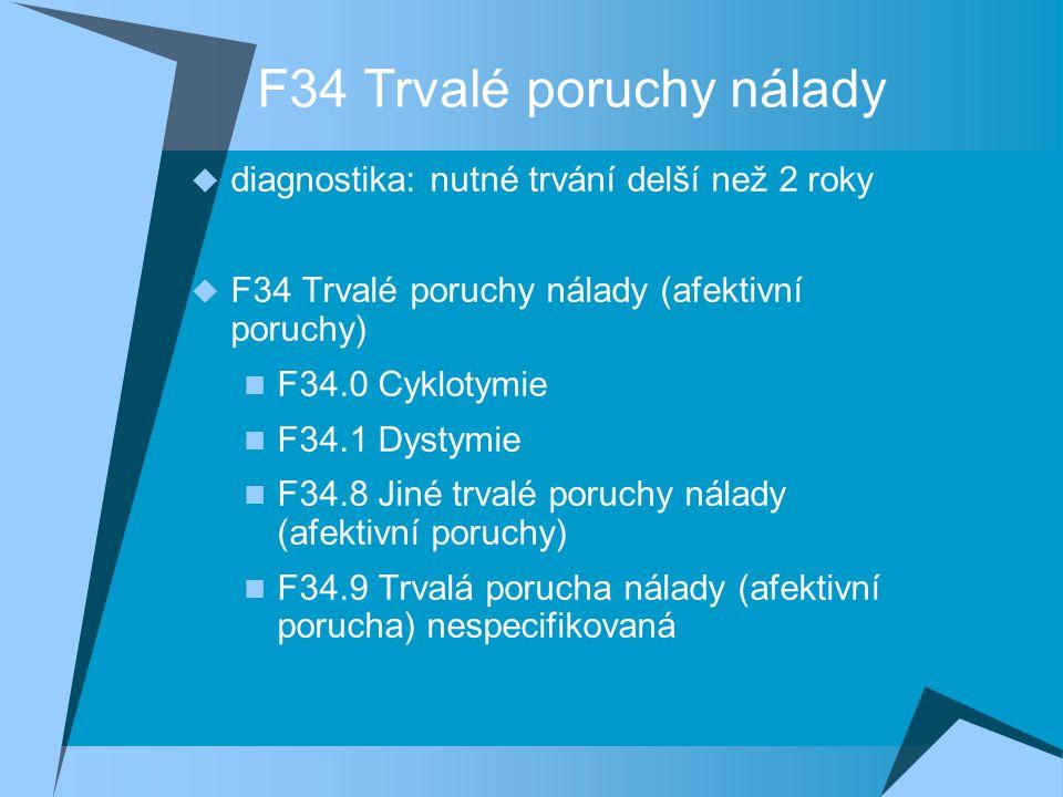 F34 Trvalé poruchy nálady