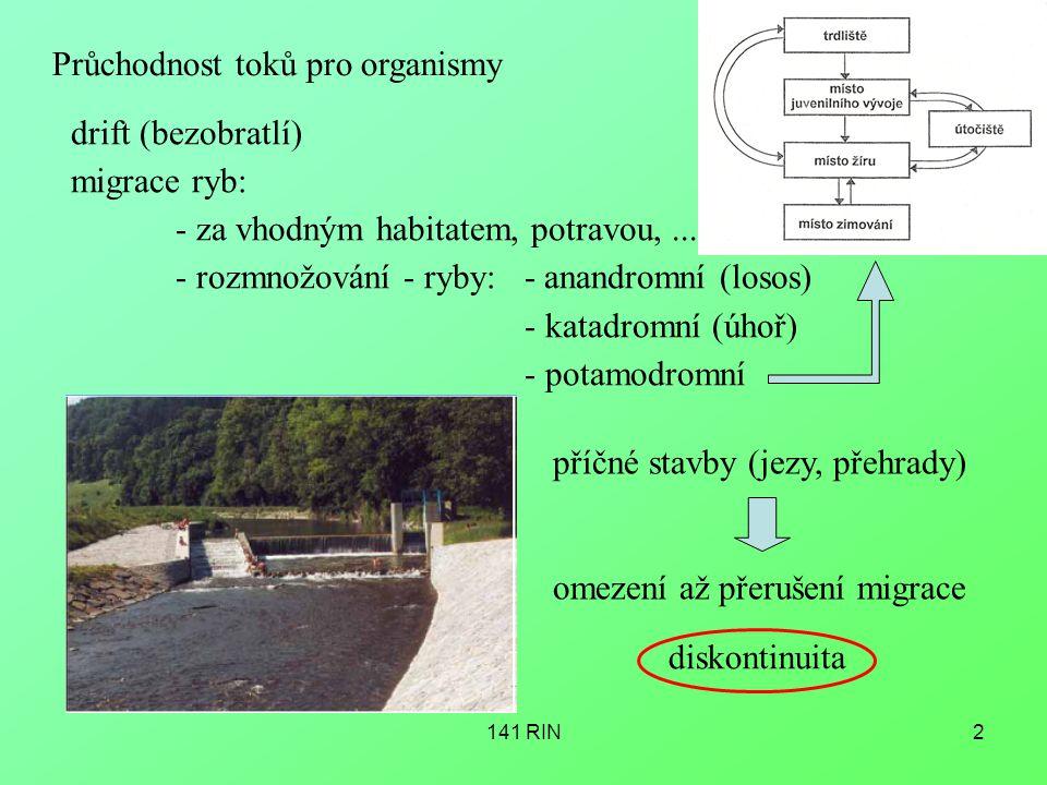 Průchodnost toků pro organismy
