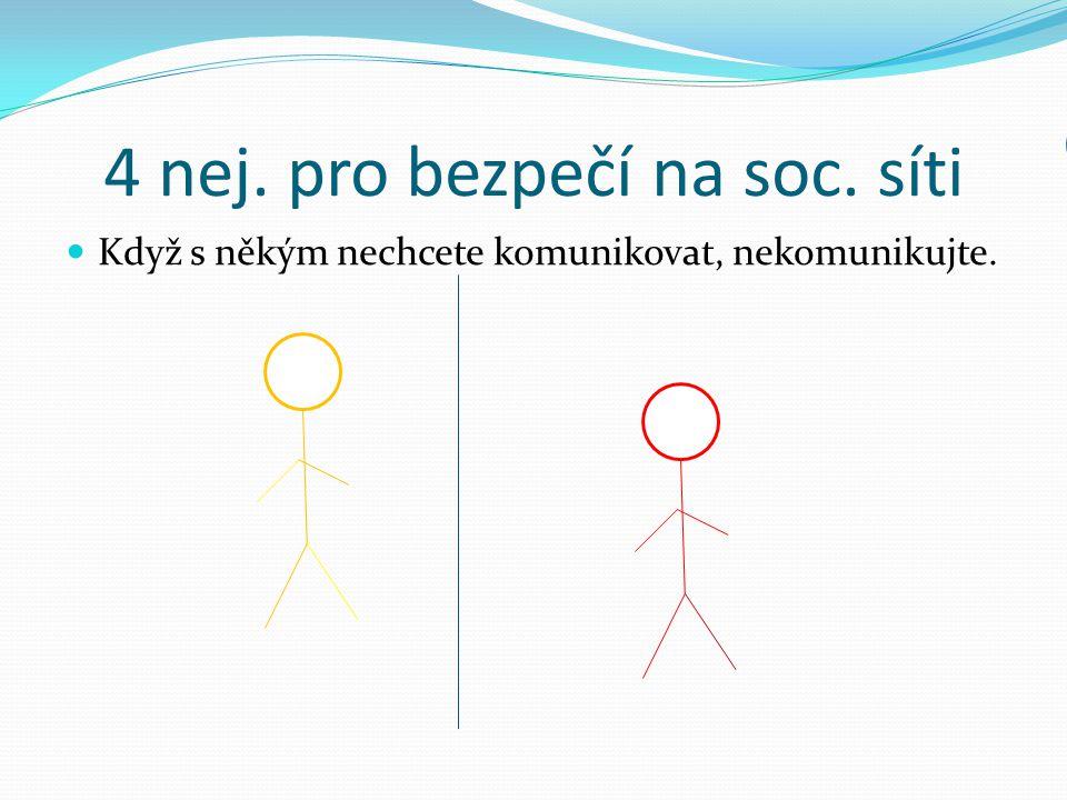 4 nej. pro bezpečí na soc. síti