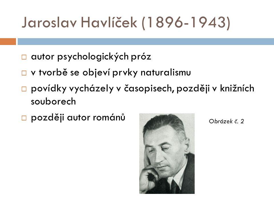 Jaroslav Havlíček (1896-1943) autor psychologických próz
