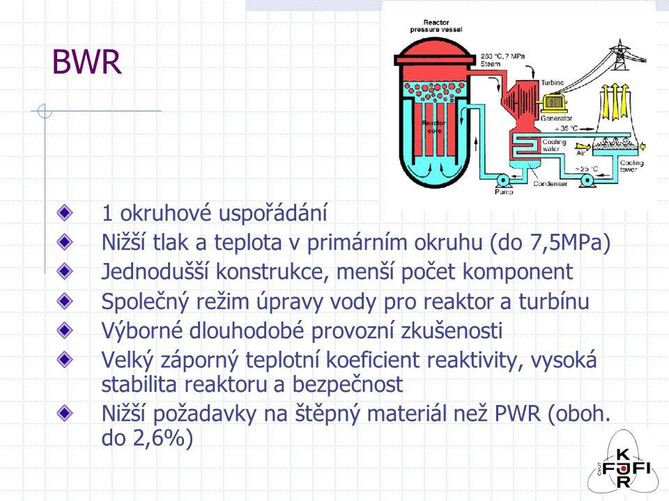 BWR 1 okruhové uspořádání