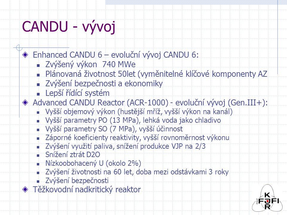 CANDU - vývoj Enhanced CANDU 6 – evoluční vývoj CANDU 6: