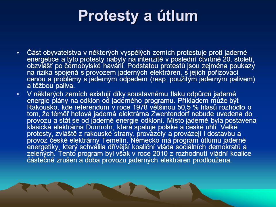 Protesty a útlum