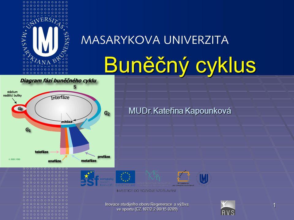 Buněčný cyklus MUDr.Kateřina Kapounková