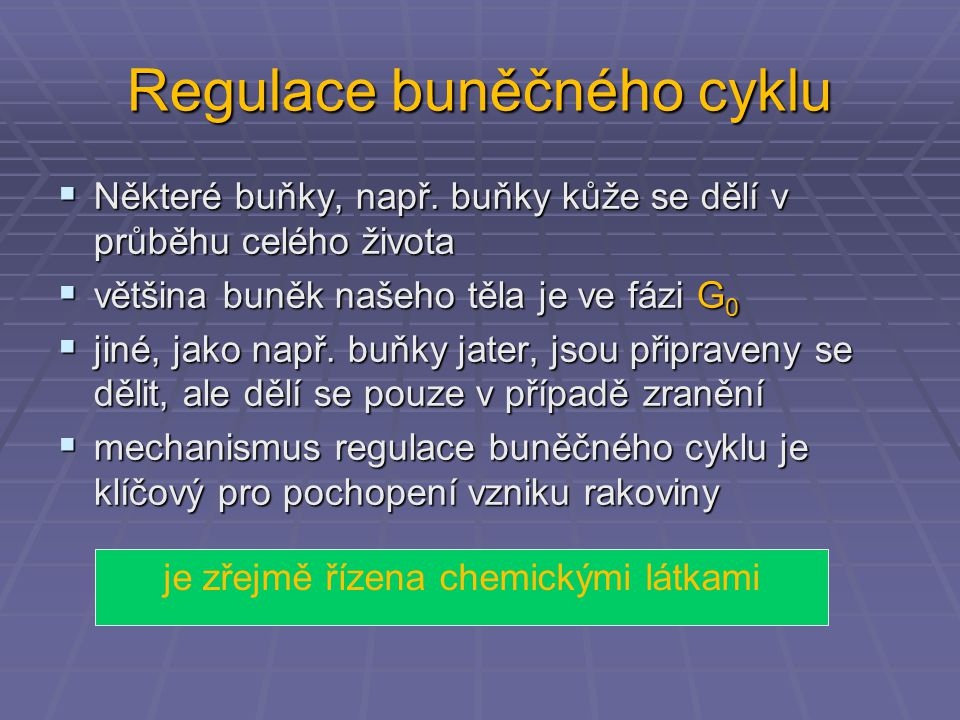 Regulace buněčného cyklu