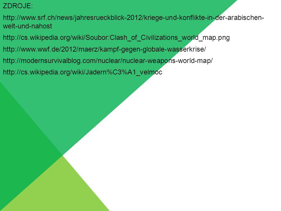 ZDROJE: http://www.srf.ch/news/jahresrueckblick-2012/kriege-und-konflikte-in-der-arabischen- welt-und-nahost.