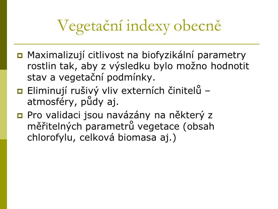 Vegetační indexy obecně