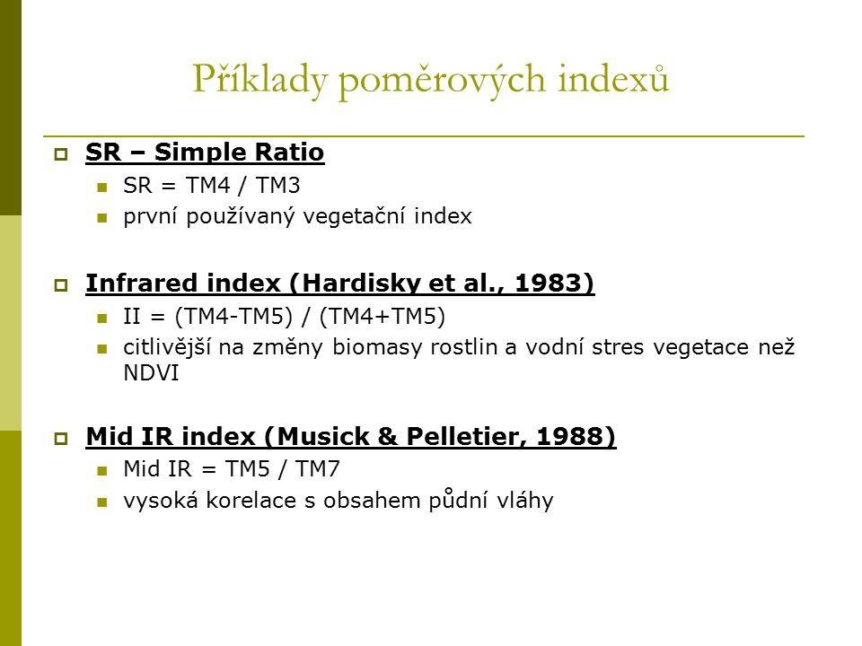 Příklady poměrových indexů