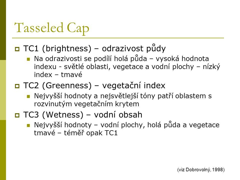 Tasseled Cap TC1 (brightness) – odrazivost půdy