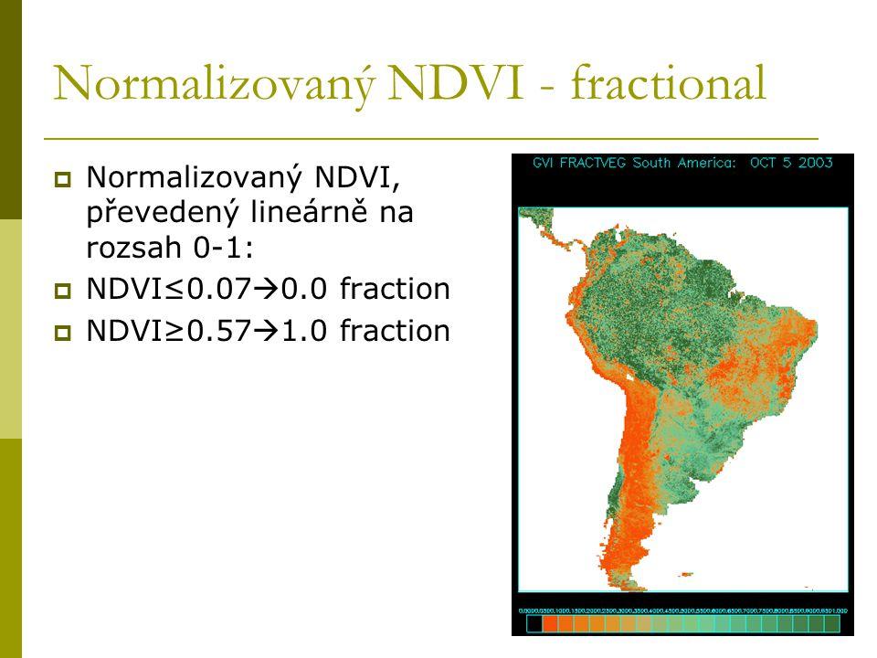 Normalizovaný NDVI - fractional