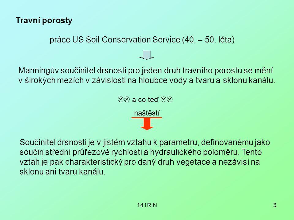 práce US Soil Conservation Service (40. – 50. léta)