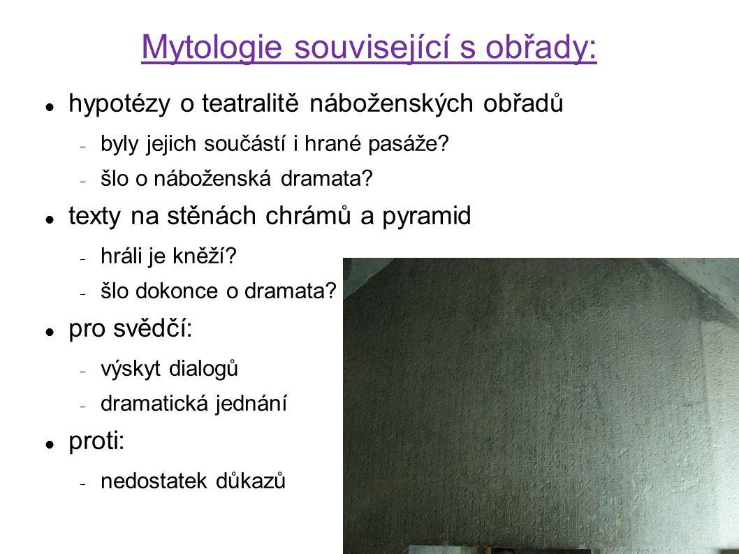 Mytologie související s obřady: