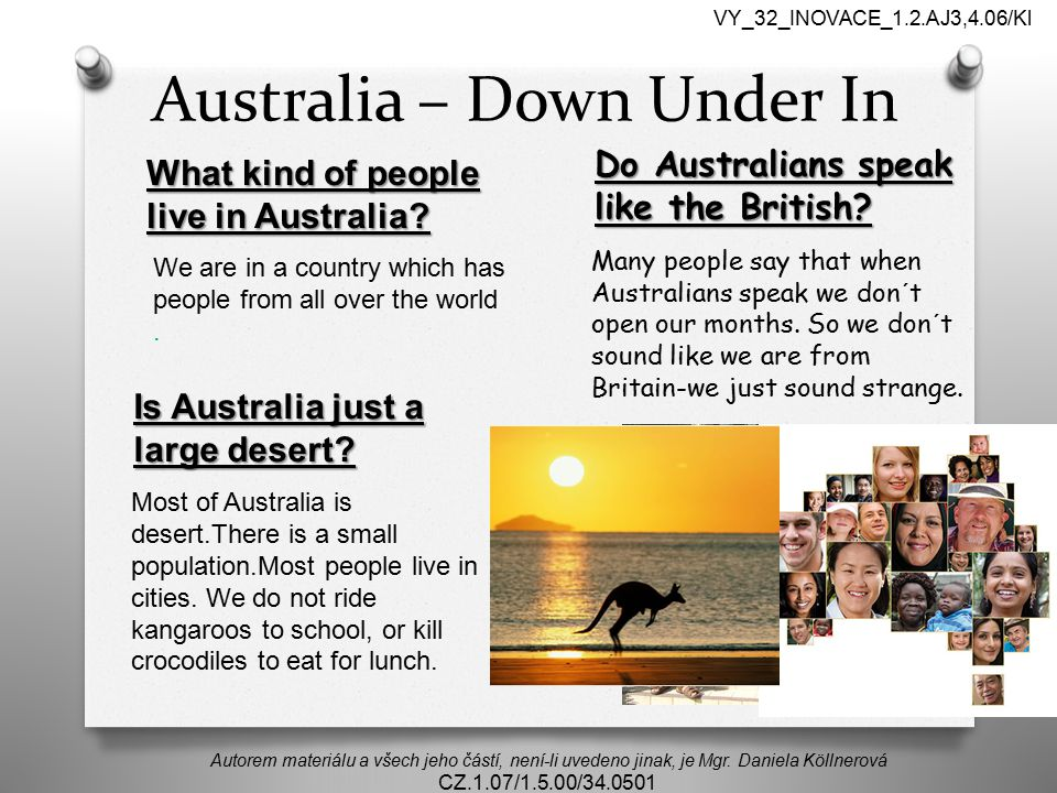 Australia – Down Under In