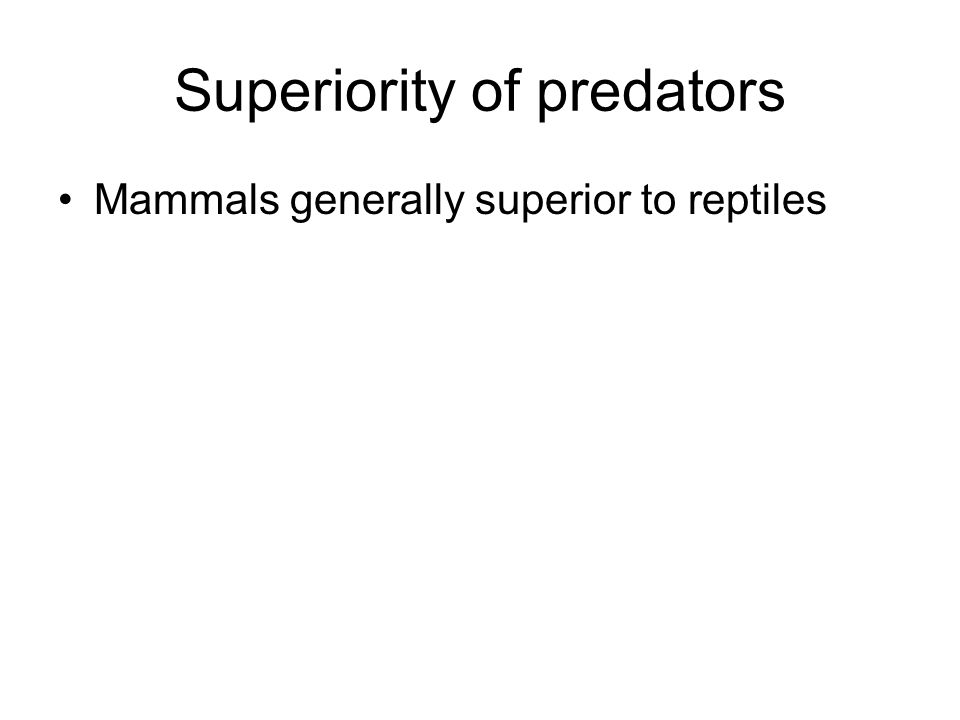 Superiority of predators