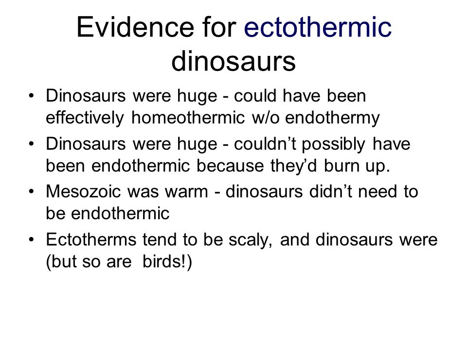 Evidence for ectothermic dinosaurs