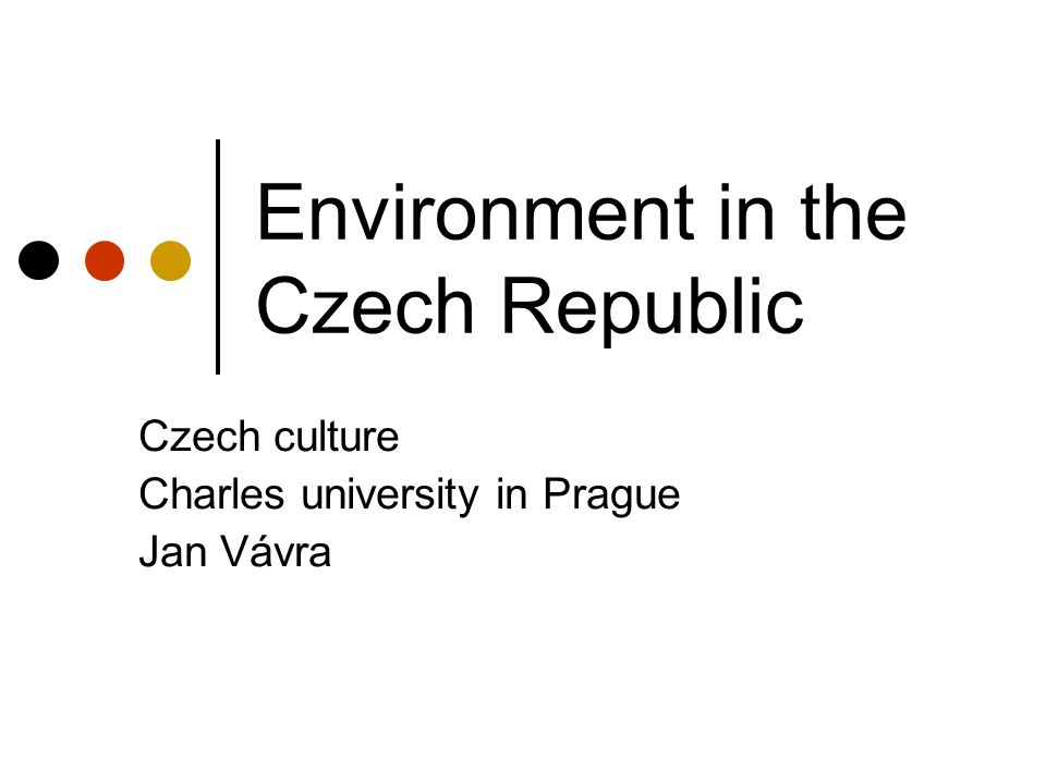 Environment in the Czech Republic