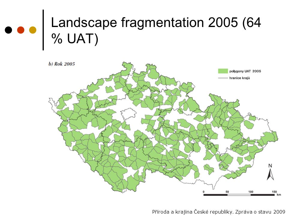Landscape fragmentation 2005 (64 % UAT)