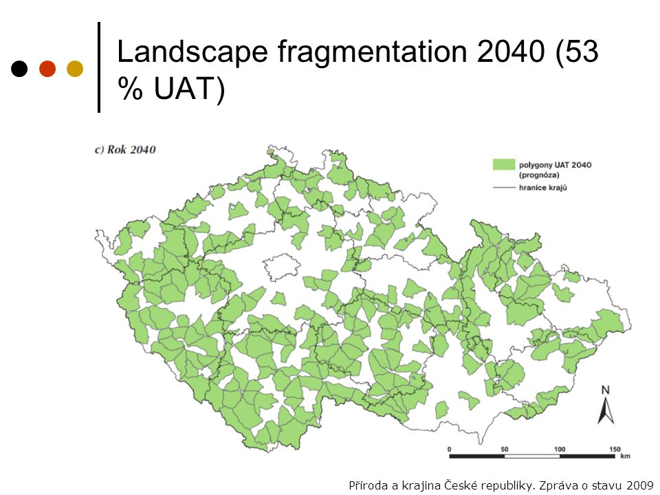 Landscape fragmentation 2040 (53 % UAT)