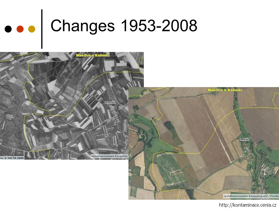 Changes 1953-2008 http://kontaminace.cenia.cz