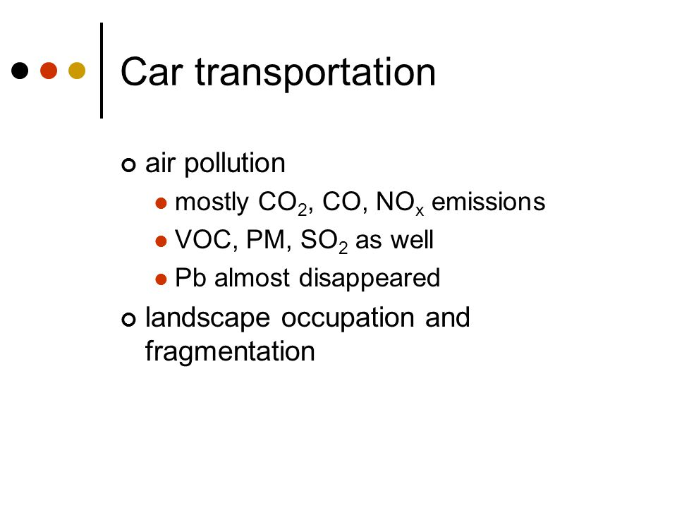 Car transportation air pollution