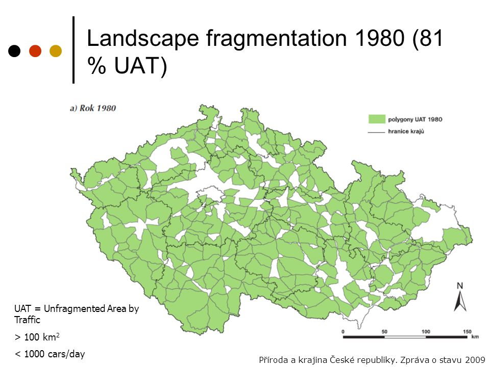 Landscape fragmentation 1980 (81 % UAT)