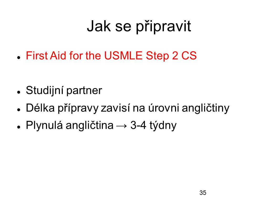 Jak se připravit First Aid for the USMLE Step 2 CS Studijní partner