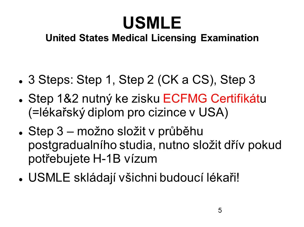 USMLE United States Medical Licensing Examination