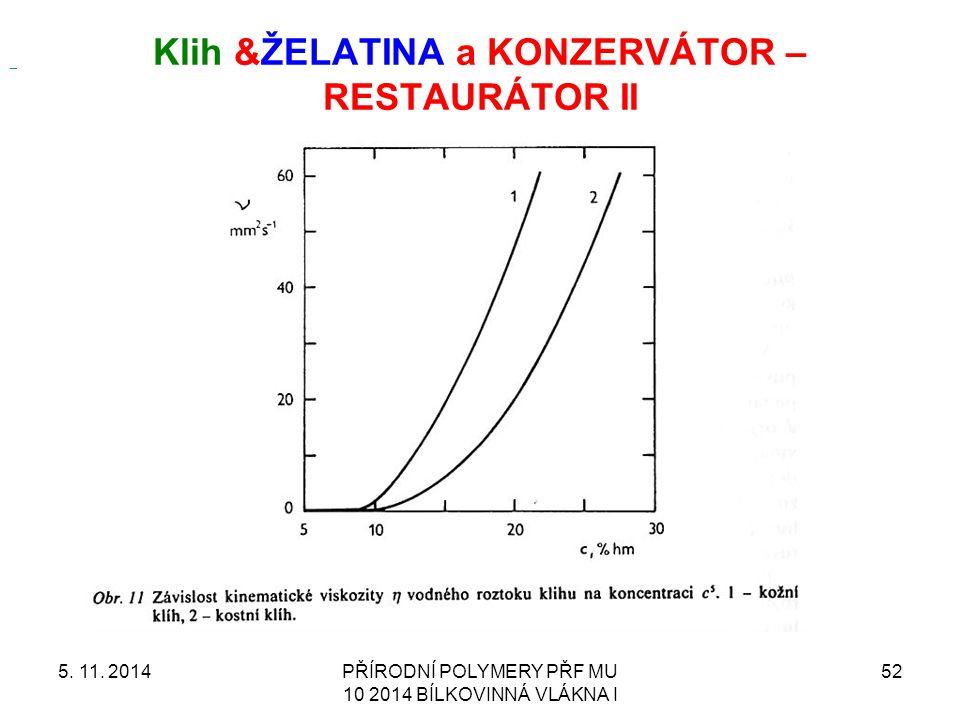 Klih &ŽELATINA a KONZERVÁTOR – RESTAURÁTOR II