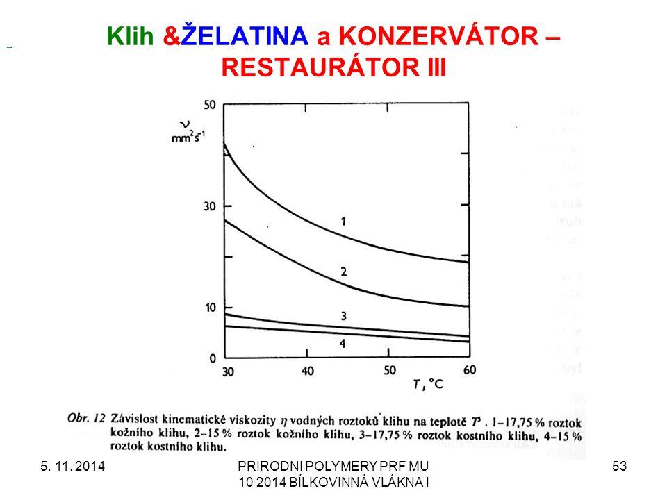 Klih &ŽELATINA a KONZERVÁTOR – RESTAURÁTOR III