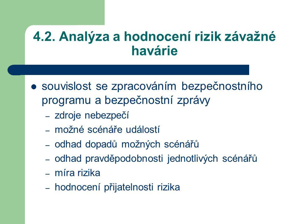 4.2. Analýza a hodnocení rizik závažné havárie