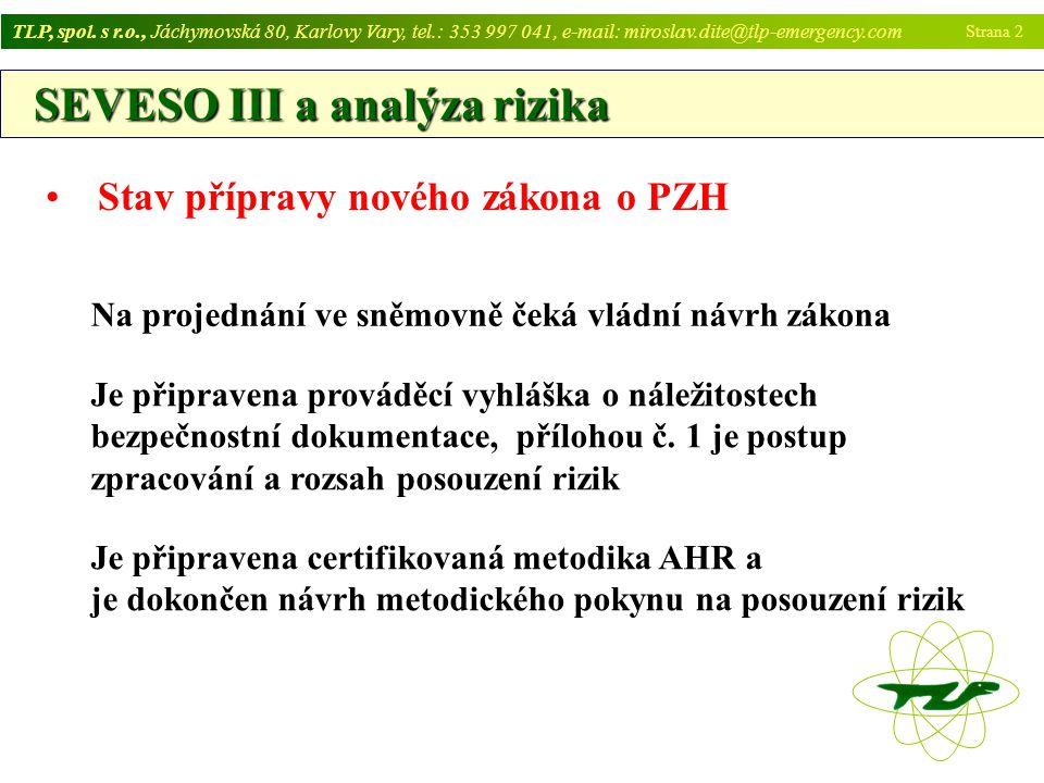 SEVESO III a analýza rizika