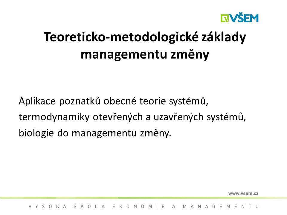 Teoreticko-metodologické základy managementu změny