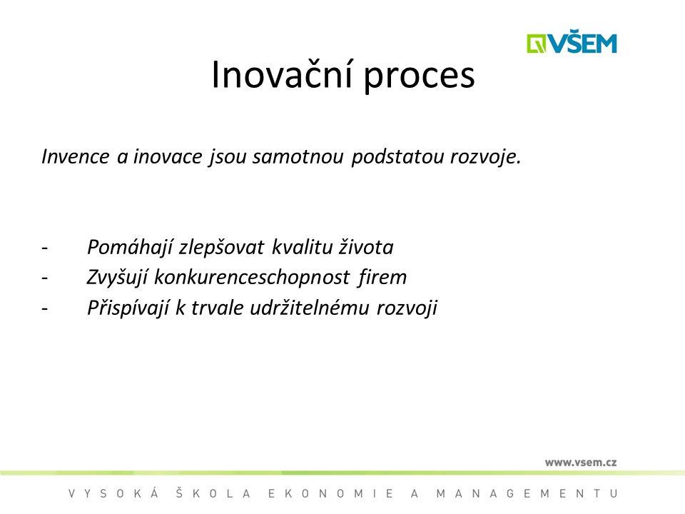Inovační proces Invence a inovace jsou samotnou podstatou rozvoje.