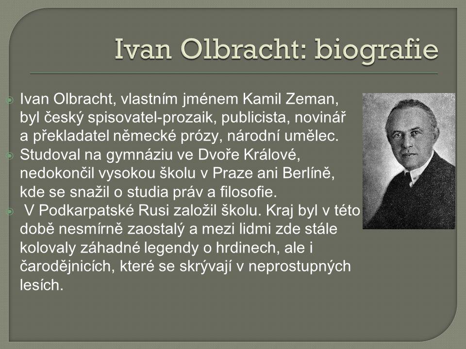 Ivan Olbracht: biografie