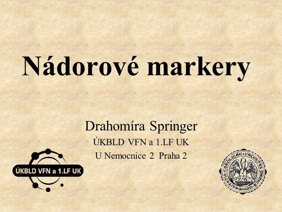 Drahomíra Springer ÚKBLD VFN a 1.LF UK U Nemocnice 2 Praha 2