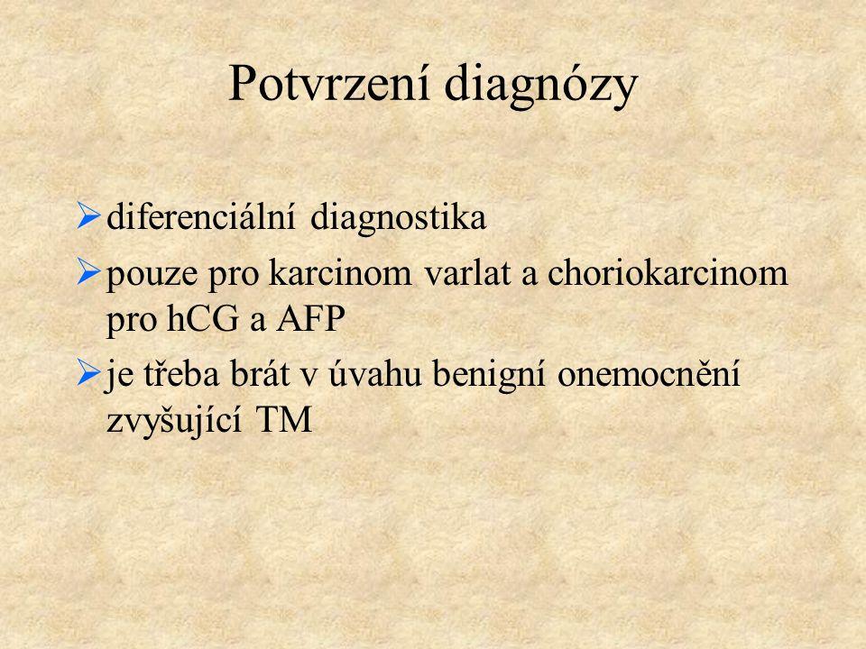 Potvrzení diagnózy diferenciální diagnostika