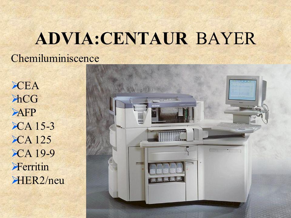 ADVIA:CENTAUR BAYER Chemiluminiscence CEA hCG AFP CA 15-3 CA 125