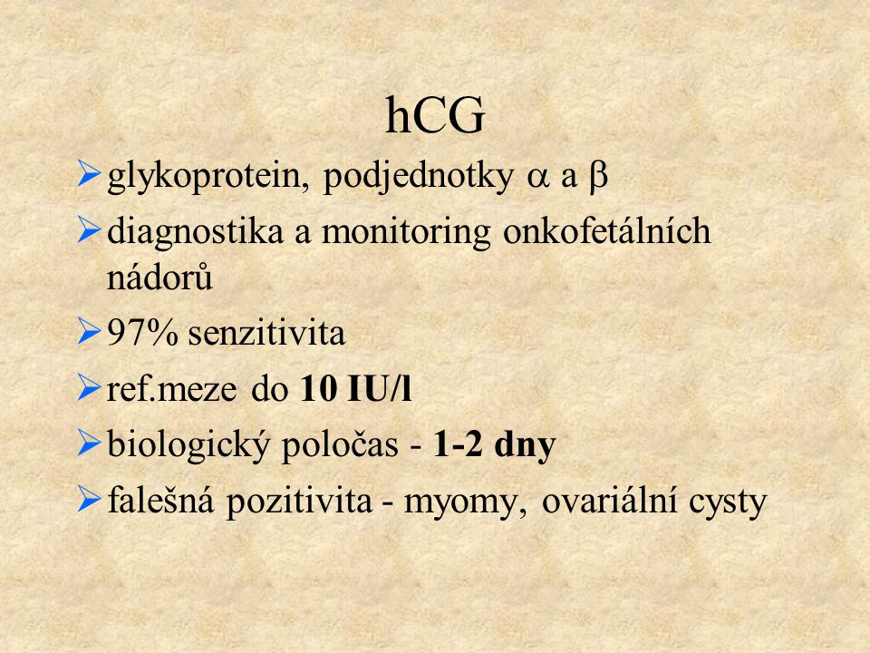 hCG glykoprotein, podjednotky a a b