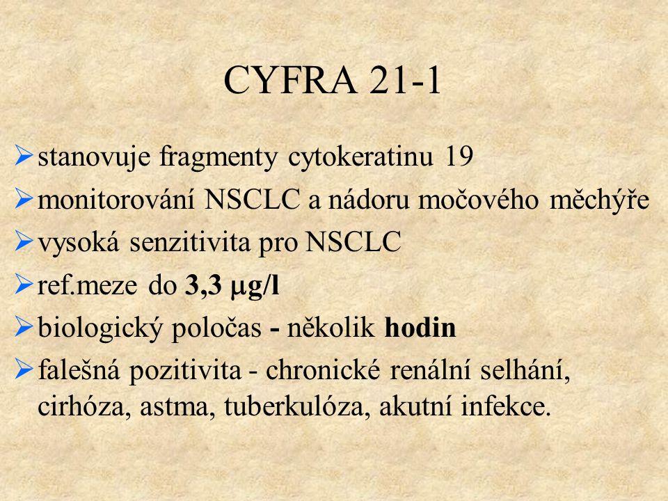 CYFRA 21-1 stanovuje fragmenty cytokeratinu 19